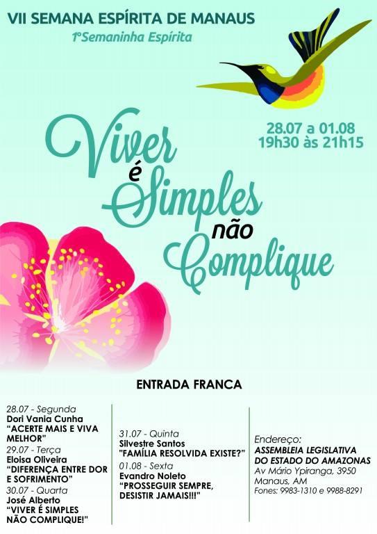 VII Semana Espírita de Manaus - De 28JUl a 01Ago2014
