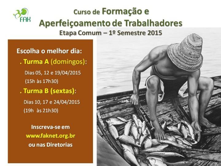 Curso Formação Comum - 1o Semestre 2015